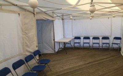 We can join several marquees together to give you the space you need