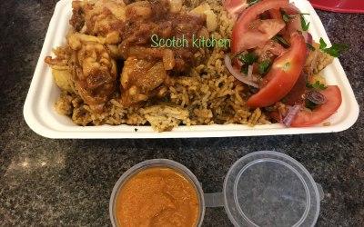 Pilau rice with kachumbari