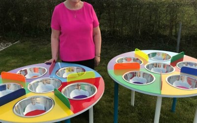 Myself showing off my new Sand Art Tables
