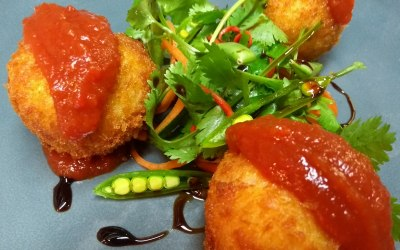 Fishcakes, sweet chilli jam