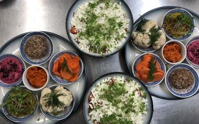 Meze, pickled veg & salad
