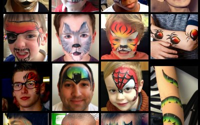 Boys Face Painting by Fey Faces Oxfordshire