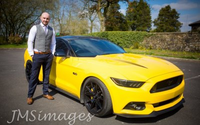 Adam with the Mustang
