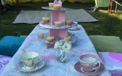 Bell tent tea parties