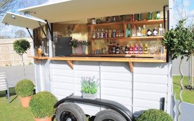 The Box Bar set up as a gin bar..