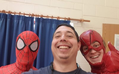 Hanging out with Spidey and The Flash