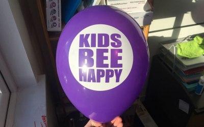 Disney and Kids Bee Happy balloons