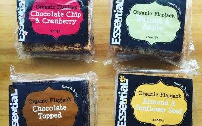 Range of organic flapjacks from essential trading, Bristol.