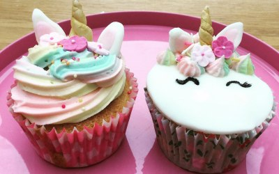 Unicorn Cupcakes - part of our Unicorn Party Package or can be ordered as a batch of cupcakes