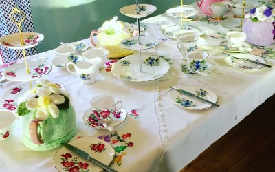 A Vintage Afternoon Tea Party - Table set just need to add the cakes