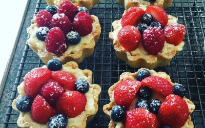 Fresh Fruit Madeline Tarts
