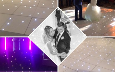 White sparkly LED dancefloor