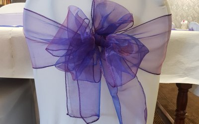 Chair covers and sashes add styling to your wedding or event and can make an amazing difference