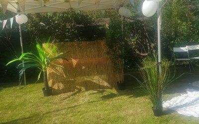 garden party setup