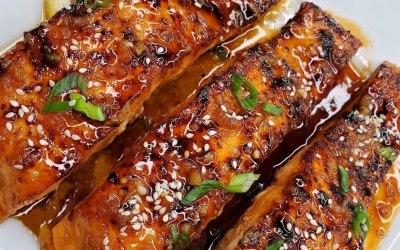 Honey glazed Jerked Salmon