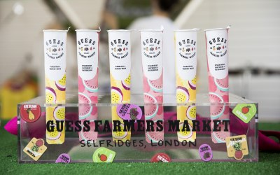 Customised Poptails for Guess event