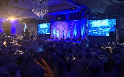 Charity Gala Dinner Fundraiser Lighting & Projection