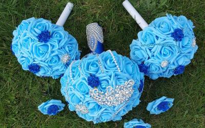 Something Blue Bouquet Set