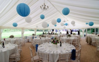Marquee with drapes to hire