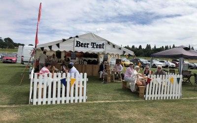 Beer Tent set up.