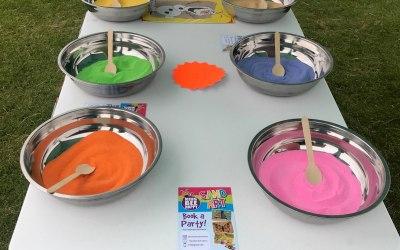 Sand art table setting