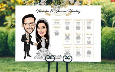 Couple Caricature Seating plans