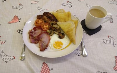 We also provide a farmer's breakfast on a plate!