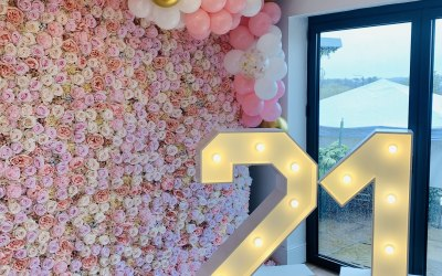 Our Premium Pale Pink Rose wall, perfect for Baby showers, Weddings, Birthdays, Christenings, Hen Parties and more