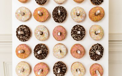 Our donut wall and stand offering sweet treats for your event