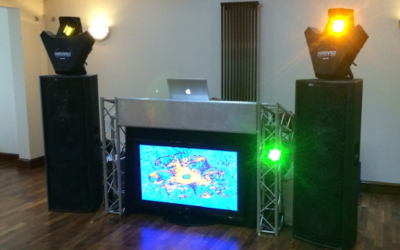 Standard video disco setup for upto 200 people