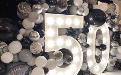 Giant light up numbers for birthdays!