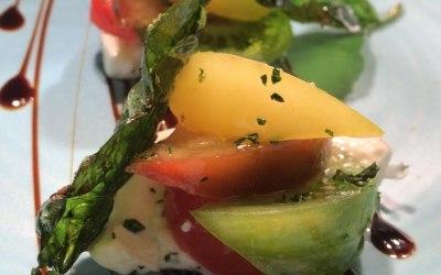 Heritage Tomato & Burrata Salad with Crispy Basil Leaves