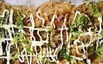 Okonomiyaki - cabbage pancake Japanese style