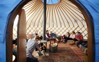 A Roundhouse Yurt Party