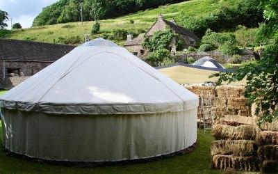 Fabulous farm wedding in a yurt