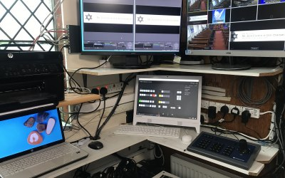 Designed & installed a complete new simulcasting live streaming setup in Mount Zion 7th Day, Croyden.