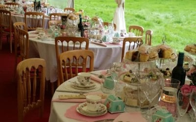 Wedding afternoon tea for 140 guests