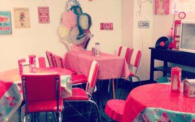 American diner venue, prop hire and milkshake bar booth