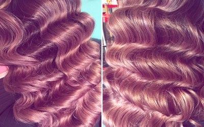 Hollywood waves bridal hair