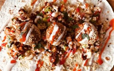 Falafels & Middle Eastern Salad Wrap