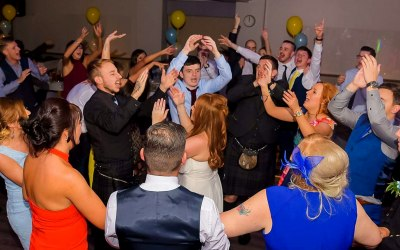 Guests having a ball on the dancefloor