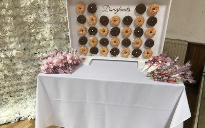 Light up doughnut wall
