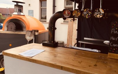 Pizza and craft beer pop up bar for a Festival in Barnsley