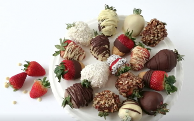 Customized chocolate covered strawberries