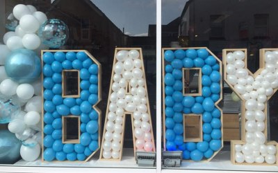 4ft BABY Letters With Balloon Garland