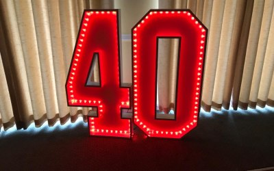 Colour Changing Light Up Numbers