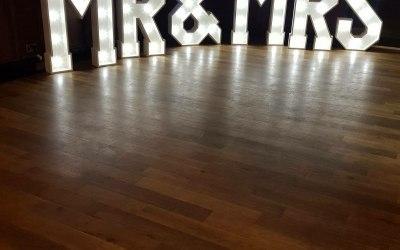 4 ft LED 'Mr & Mrs' Letters