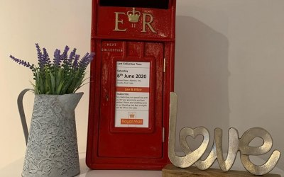 Classic Red Post Box with personalisation