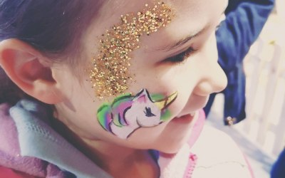 Unicorn with glitter
