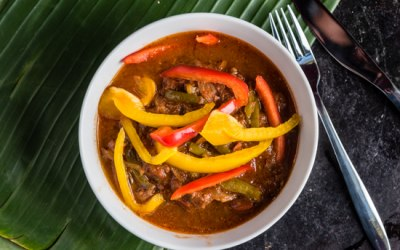 Beef and Red Bell Peppers